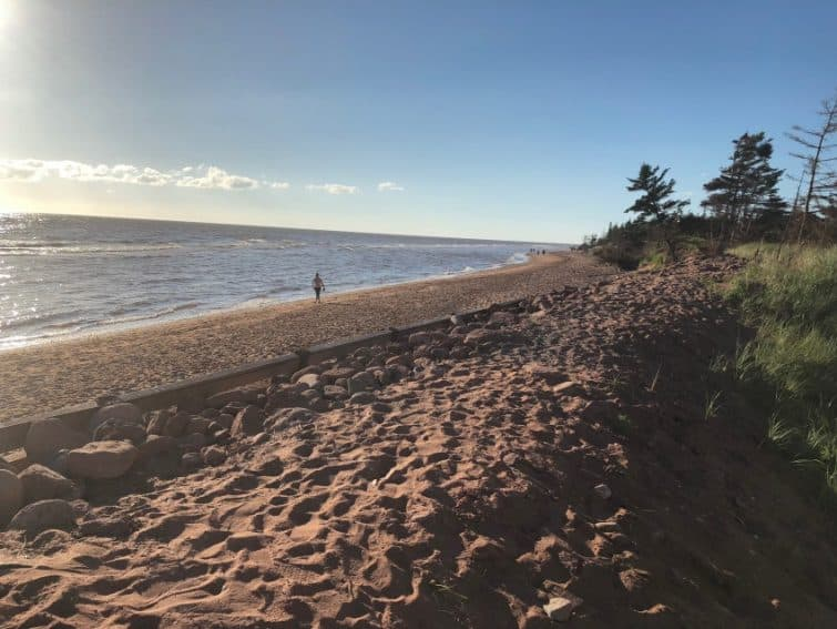 The beach on the West side of Prince Edward Island.