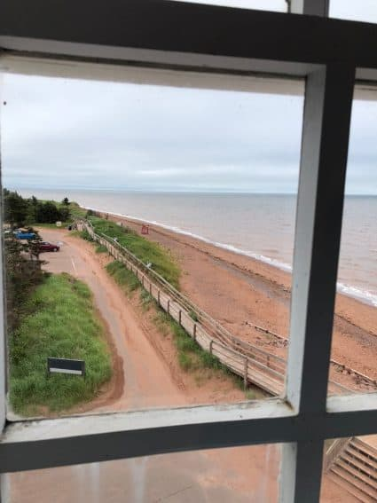 View from the West Point Lighthouse Inn, in O'Leary Prince Edward Island.
