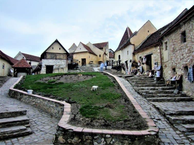Inside Rasnov Citadel, Rasnov, Romania
