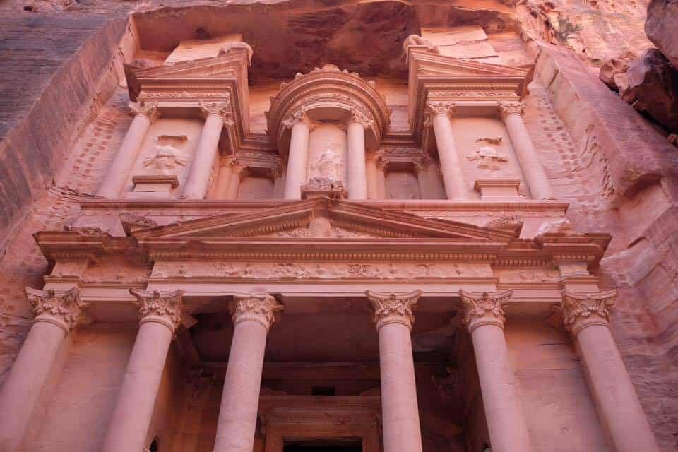 Morning light in Petra Jordan.