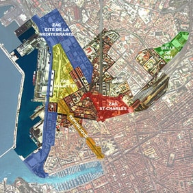The area renovated during the Euroméditerranée Project. Photo from the Euroméditerranée Project's website.
