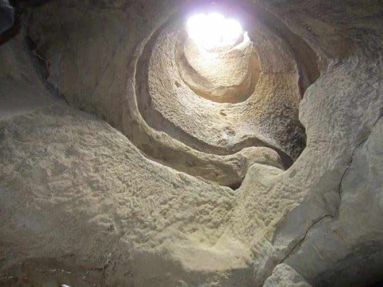 Inside Sinca Veche cave.