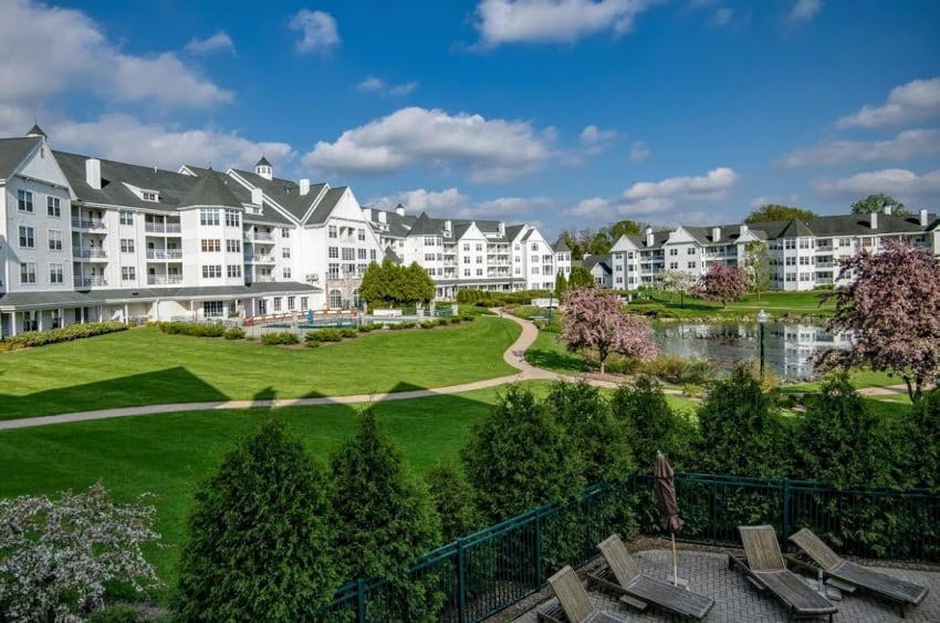 The Osthoff Resort is one of three classic resorts in the town of Elkhart Lake, along with a handful of bed and breakfast accommodations.