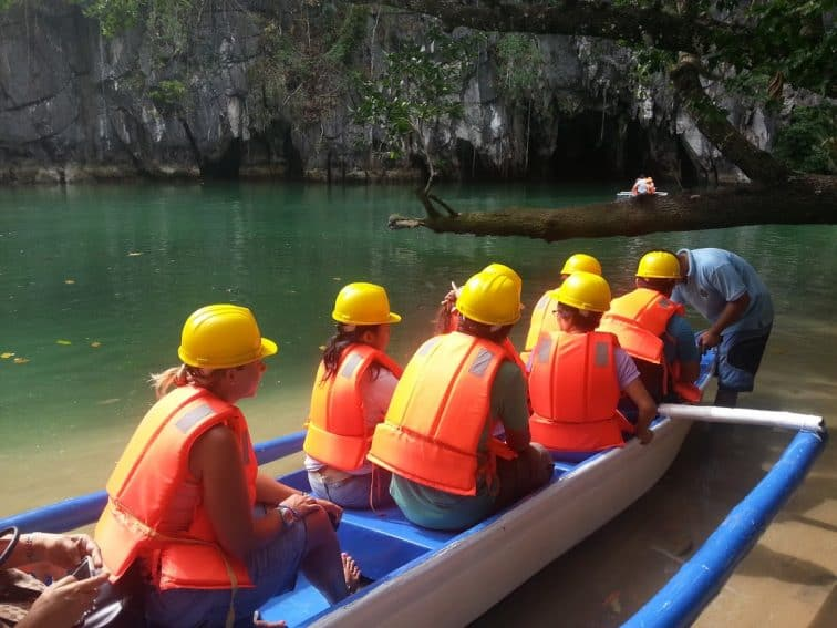 The boat to the cave in Puerto Princessa.