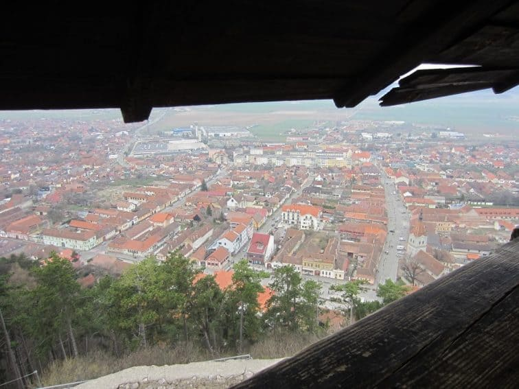 Vantage view of the city from Brasov fortress.