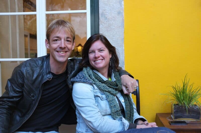 Founders Sanne and Bart in Lisbon