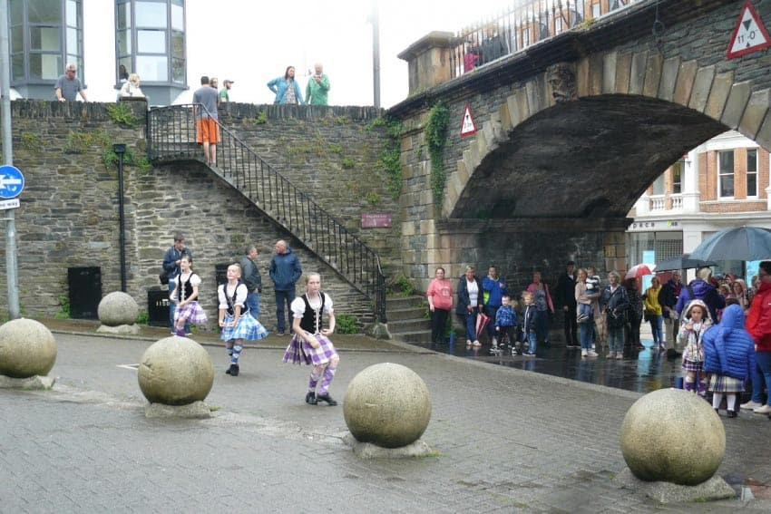Young dancers at the Tower Gate in Derry. Stephen Hartshorne photos.