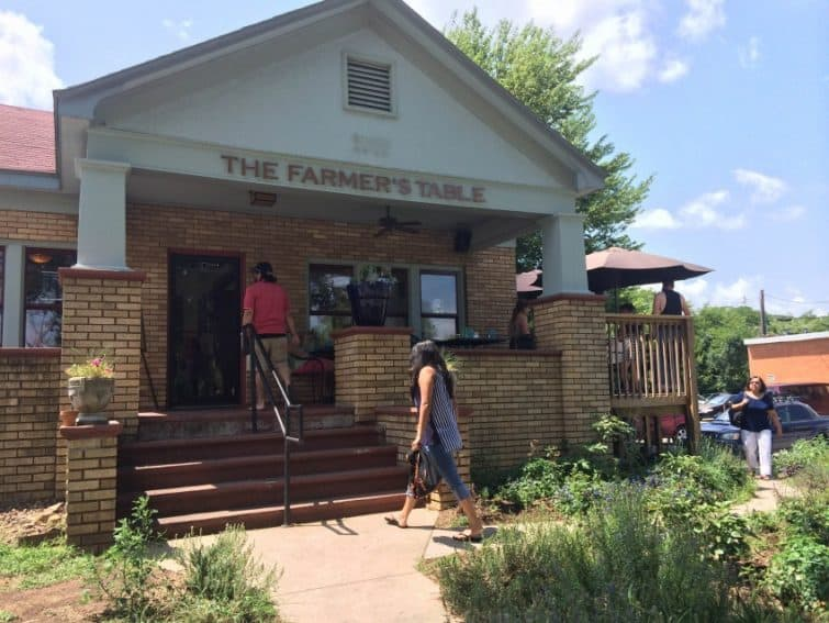 The outside of the Farmer's Table Cafe. Photo by Farmer's Table Cafe.