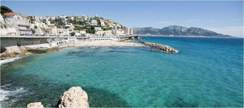 Marseille's beautiful Mediterranean coastline. Photo taken from France Tourism's website.