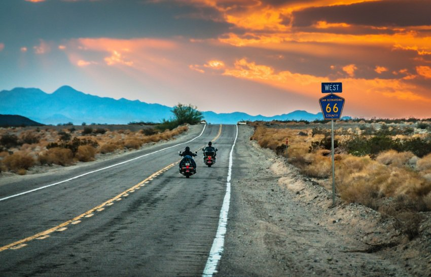 Route 66 during a sunset. Photo by Redfin.