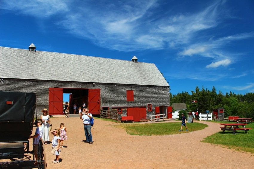 The barn at Heritage Place in Cavendish, PEI.