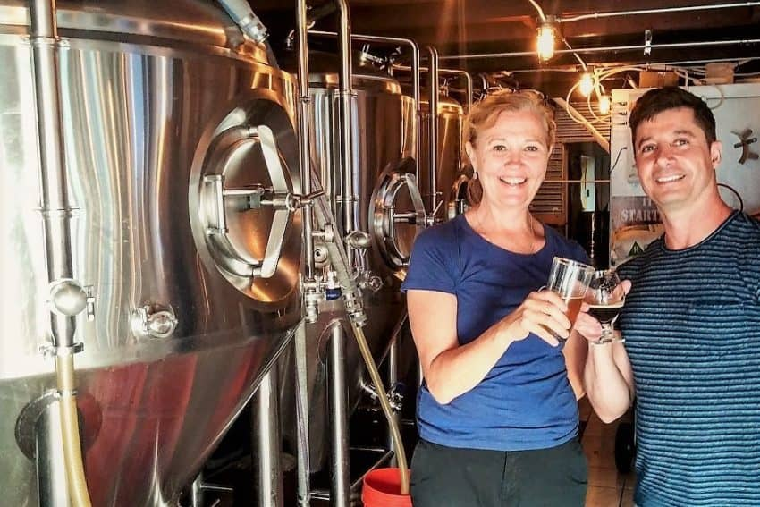 Maura Colucci at Dewey Brewing & Kitchen in Dewey Beach, DE gives a hands-on tour of the crafty brews.