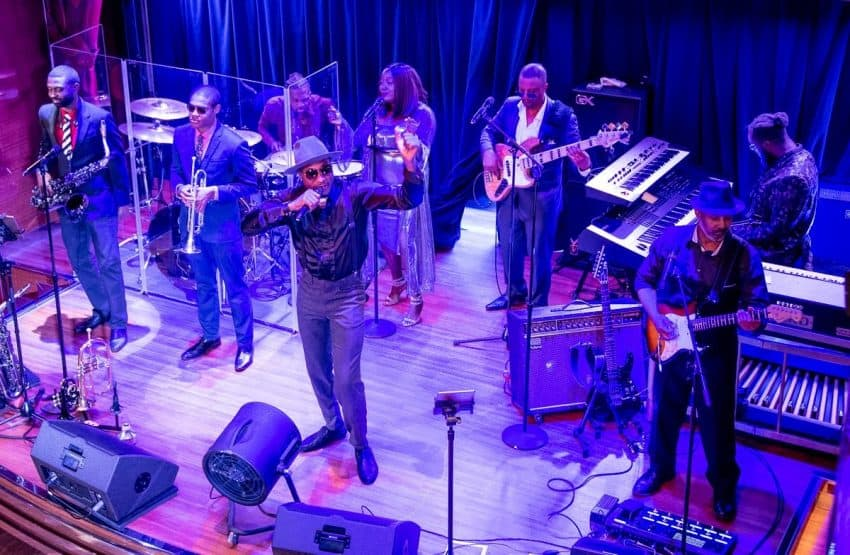 Nightly entertainment onboard the Koningsdam included B.B. King's All Stars, belting out a mix of blues, soul and popular tunes.