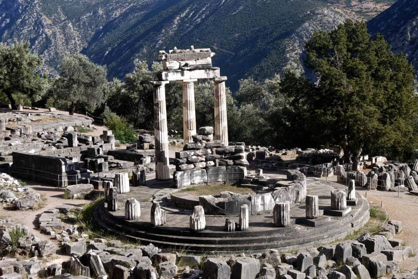 The Delphi Tolos today.