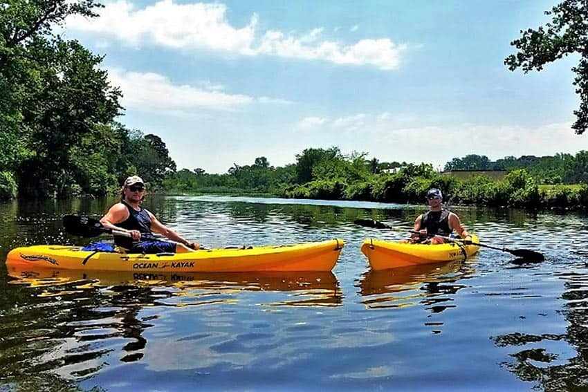Author and friend on a peaceful eco-tour on the Broadkill River with Quest Fitness Kayak on Delaware coast. Photos: Christopher Ludgate