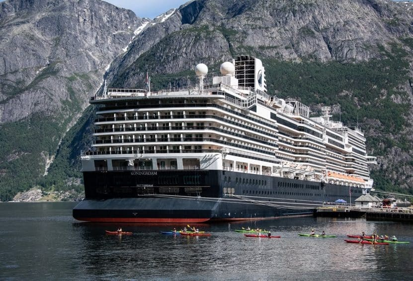 A variety of shore excursions are offered at all the ports, including sea kayaking in the village of Eidfjord.