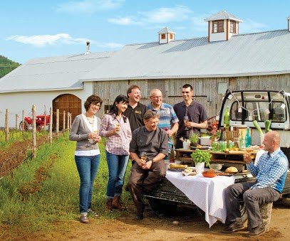 Local farmers, producers and restaurateurs celebrate the success of The Flavour Trail in Charlevoix, a delightful region of Quebec. (photo courtesy Annie Ferland)