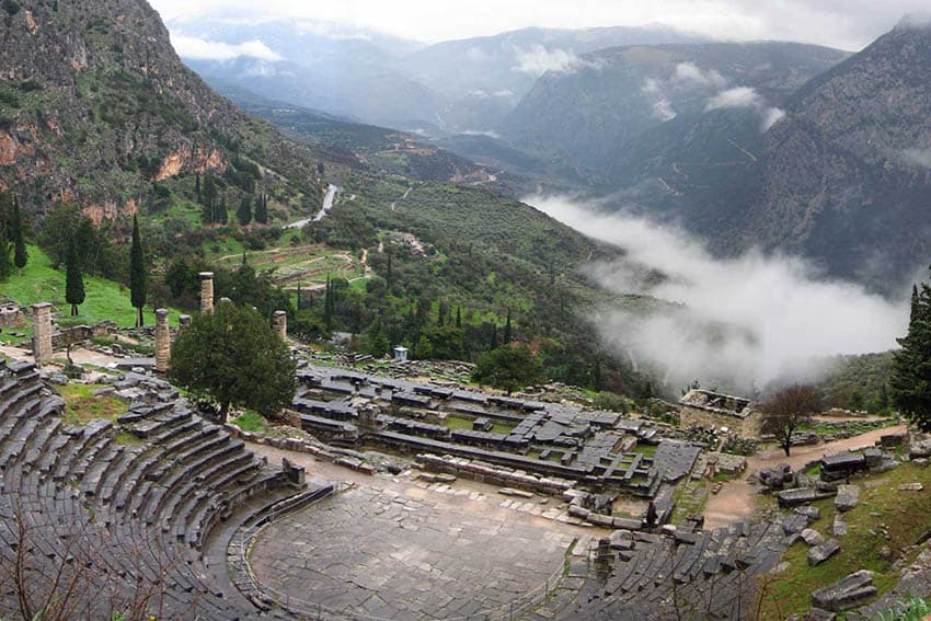 A panoramic view of Delphi, Greece. Gary van Hass photo