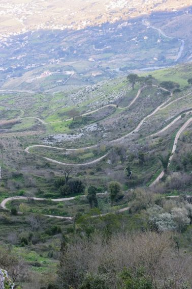 The road to Erice, Sicily.