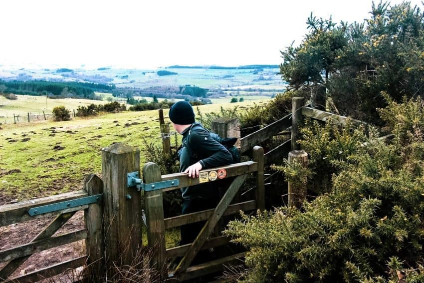 Hiking the Shropshire Way, in the Shropshire Hills,