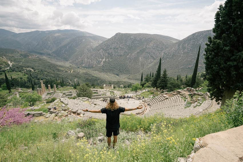 Sanctuary of Apollo in Delphi, Greece.