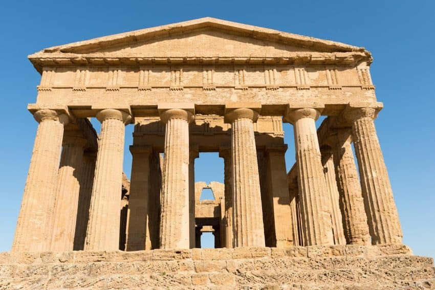 Temple of Concordia at Valley of the Temples.