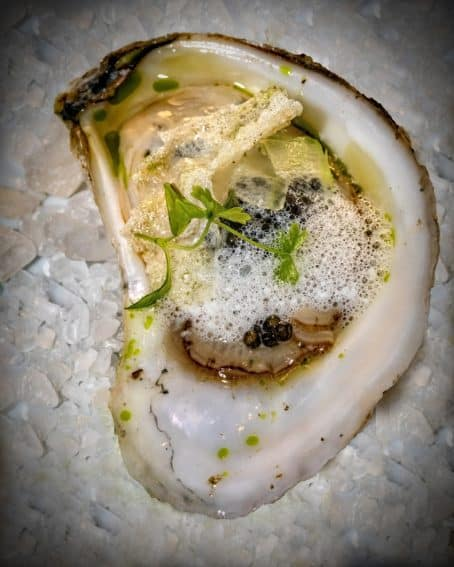 """Oyster of the Harbor."" by chef Nathaniel Adams."