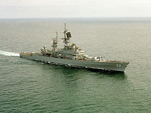 The USS England, CG-22, guided-missile cruiser.