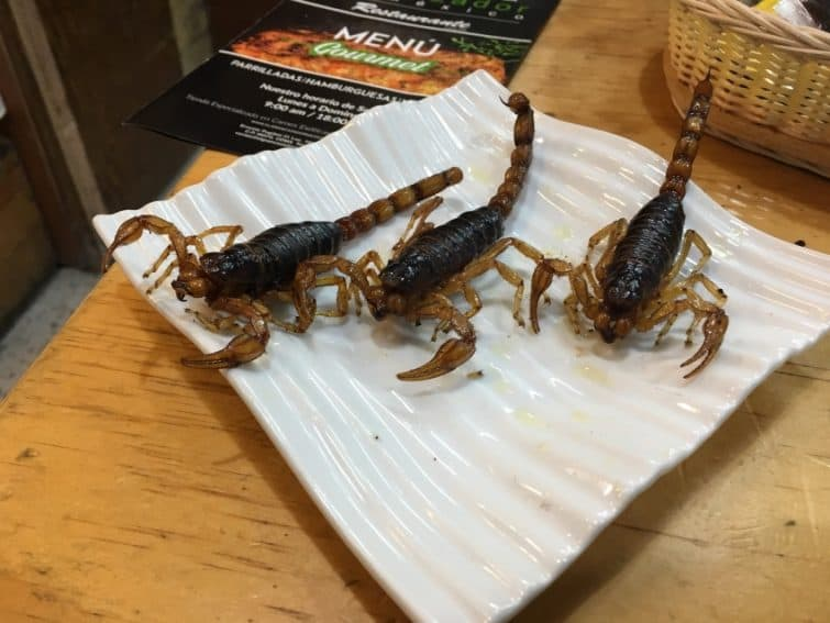 Scorpions are what's for dinner in many Mexican homes.