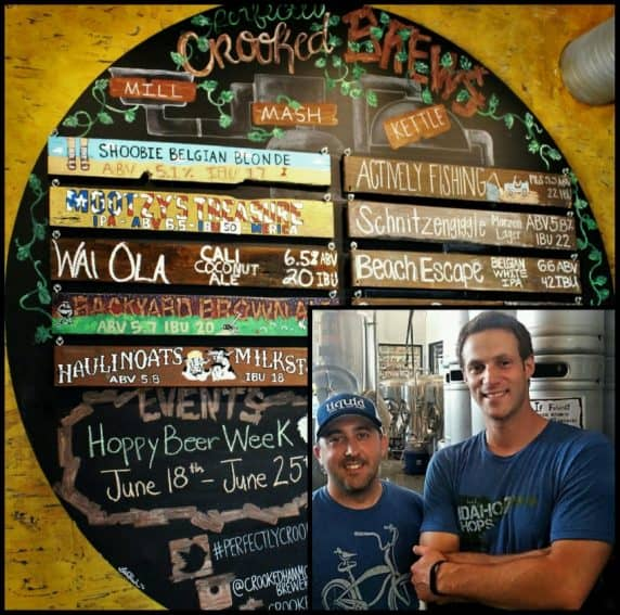 Crooked Hammock Founder, Rich Garrahan & Brand Manager & Brewer, Jon Schorah with their tasty playful brews.