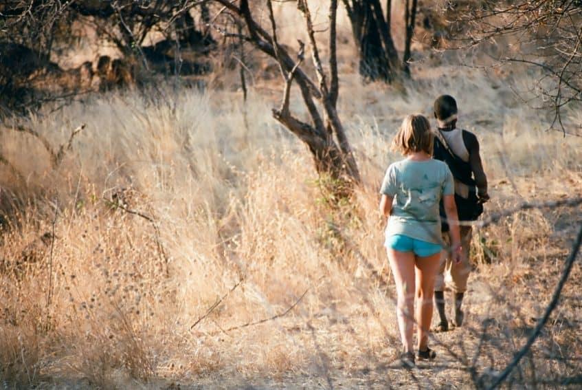 Following the hunter into the bush in Tanzania.