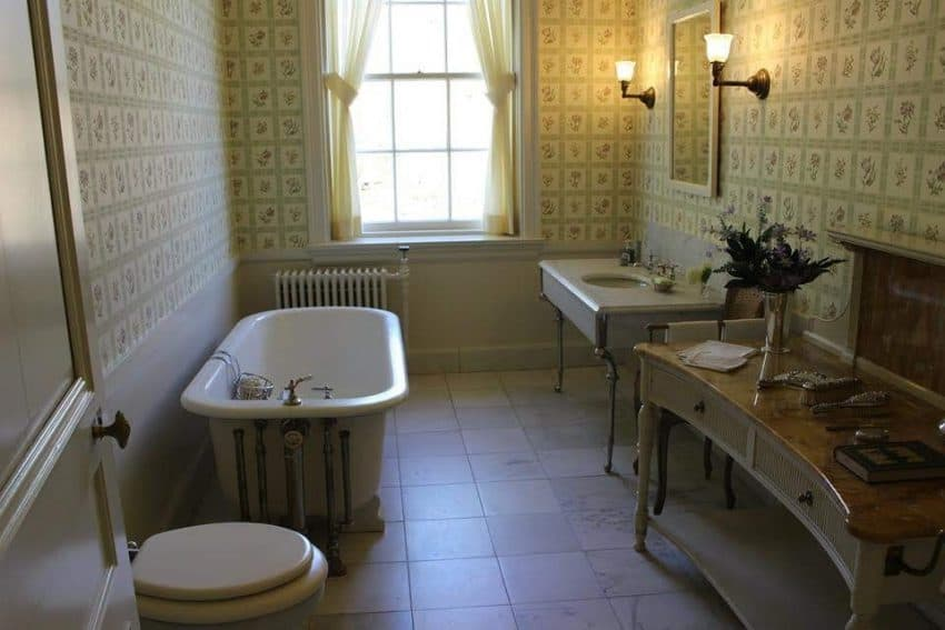 Edith Wharton's bathroom at The Mount, Lenox MA - photo by Rachael McGrath