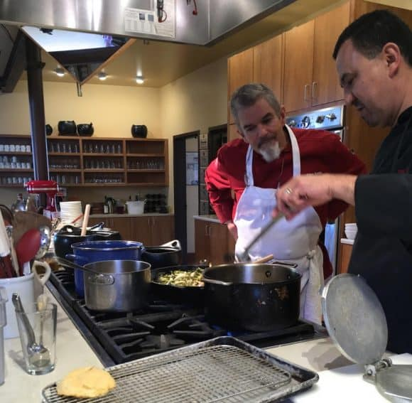 Allan Smith at the Santa Fe School of Cooking. GoNOMAD Travel
