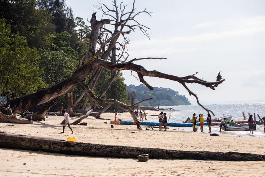 Chill on the white sand beaches in Andaman Islands. Divya Varam photo.