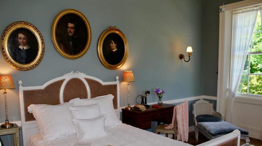 Edith Wharton's bedroom - at The Mount, Lenox Mass - photo by Rachael McGrath