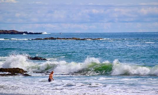 Swimmer at Kennebunk Beach