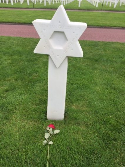 A Jewish soldier's resting place in Normandy.