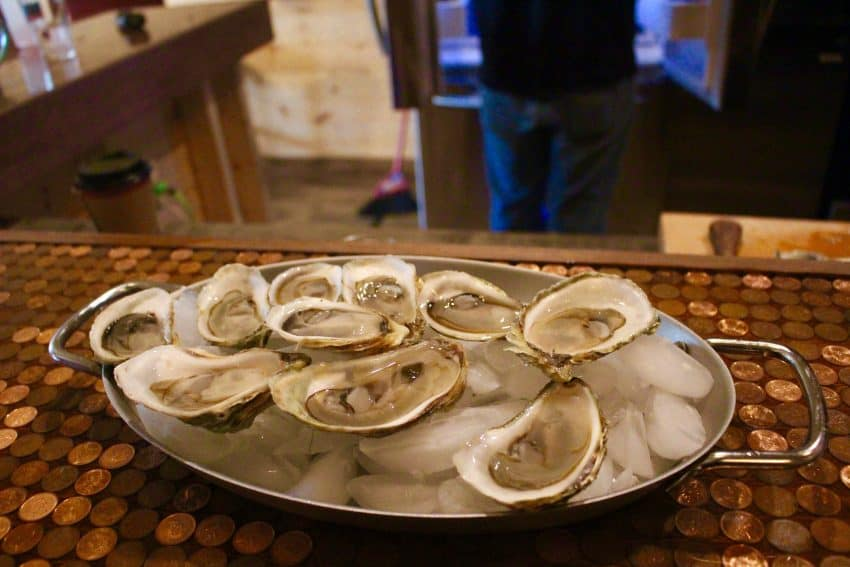 PEI Oysters!  photo by Rachael McGrath