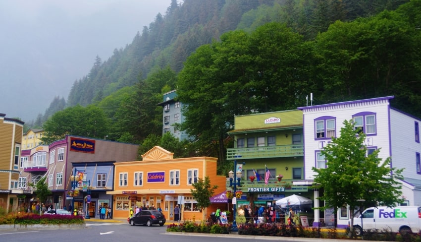 Juneau, the landlocked capital of Alaska.