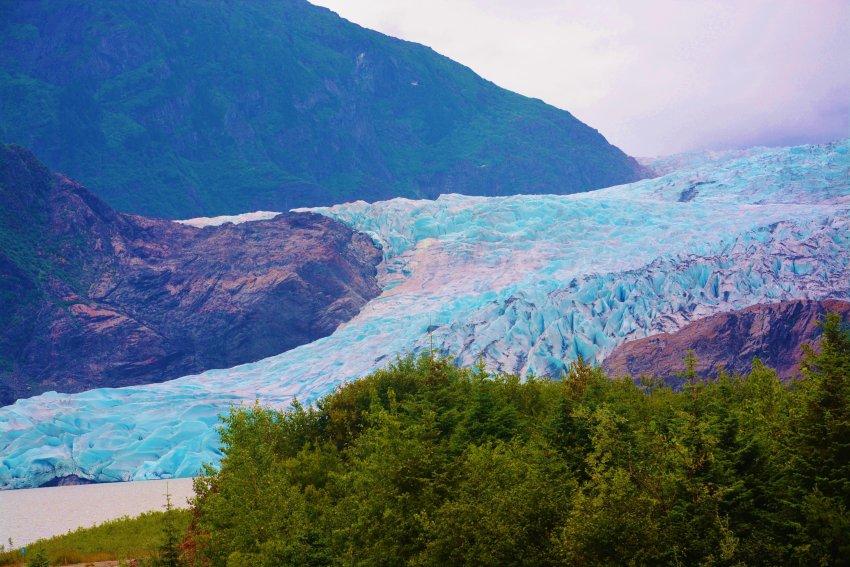 Mendenhall Glacier, in Juneau Alaska.