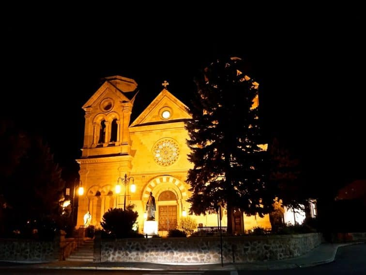 St. Francis Cathedral, one of Santa Fe's most famous landmarks