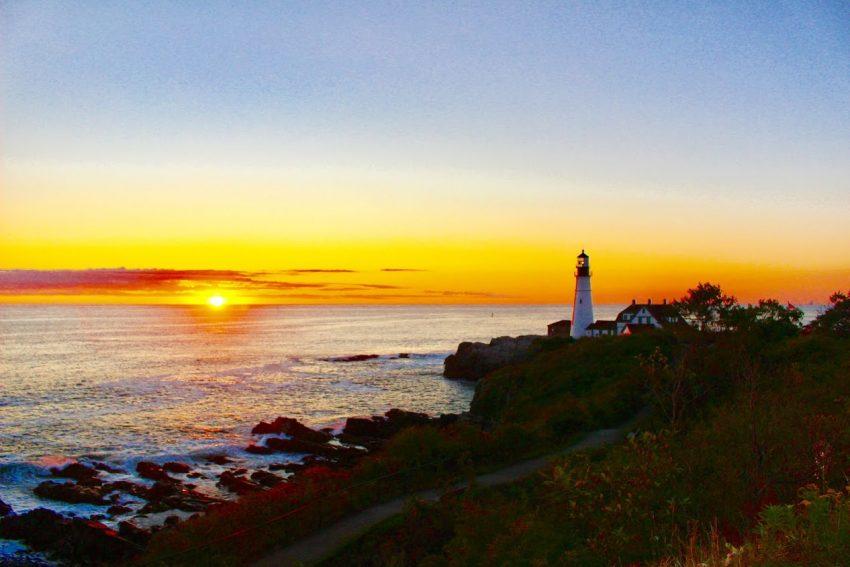 Sunrise at Portland Head Light - photo by Rachael McGrath