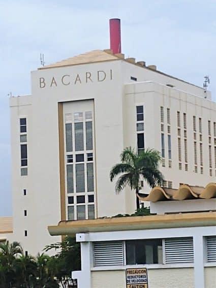 Bacardi rum distillery.