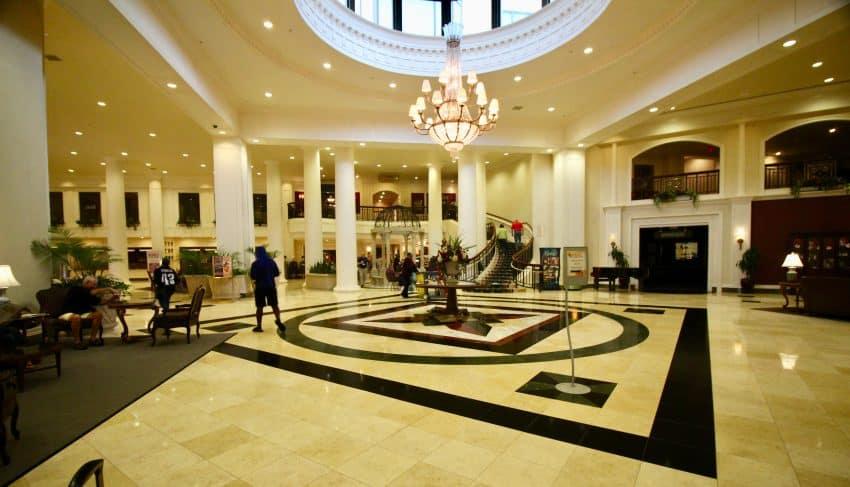 Dover Downs Hotel lobby Dover Delaware