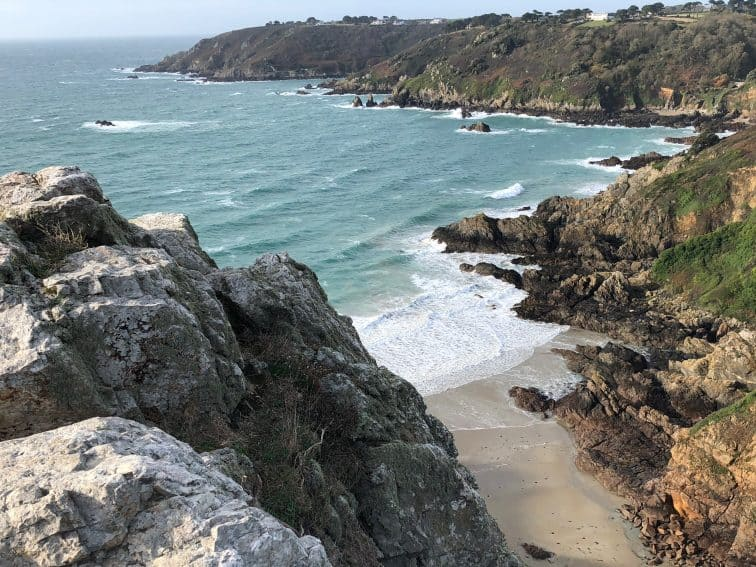 The windy beaches on the Fort Georges side of Guernsey, located off the coast of France. Max Hartshorne photos.