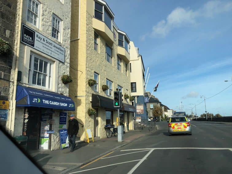 The seafront on Guernsey, St Peter Port.