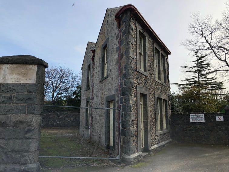 House shaped like a sliver, Guernsey.