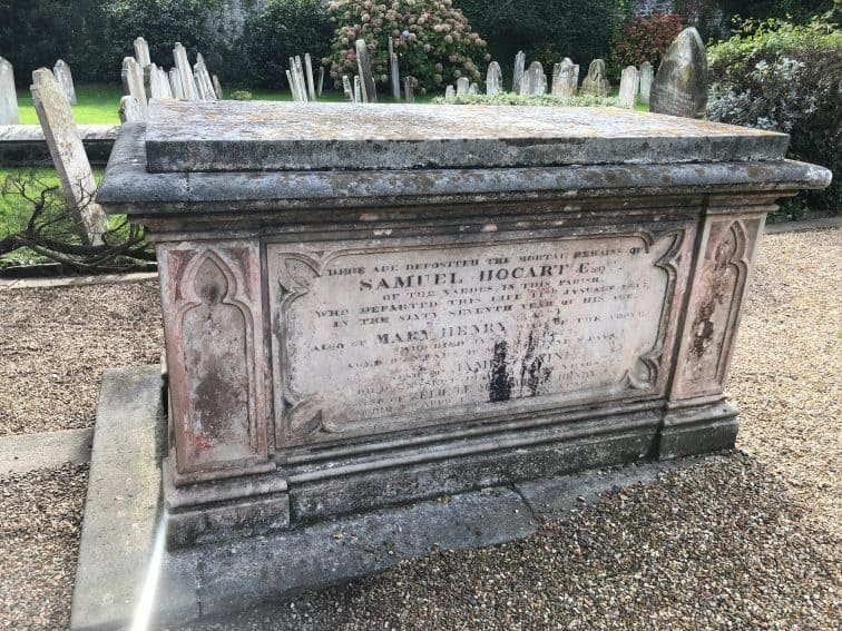 Antique tomb on Guernsey.