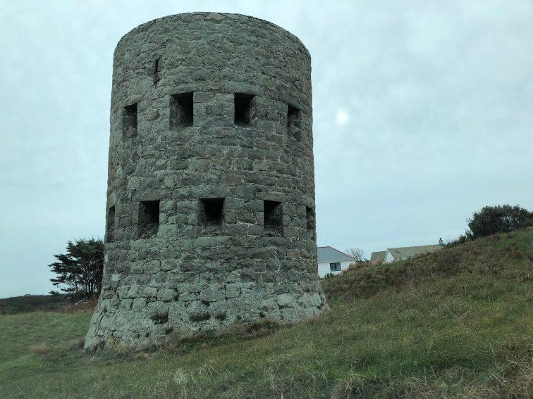 Napoleon-era defense tower on Guernsey.