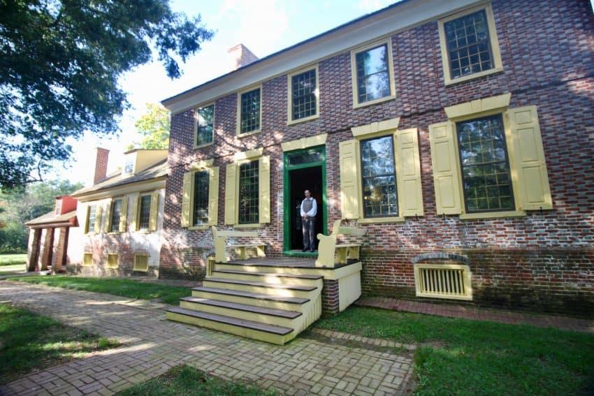Chris at John Dickenson Mansion. Dover Delaware